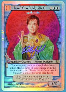 Richard Garfield trasformato in una carta del suo gioco